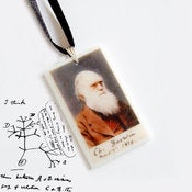 Image of Charles Darwin in colour Pendant