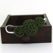 Image of Three Rosette headband in Olive