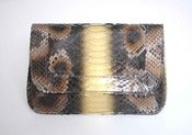 Image of Rebekah Clutch - Natural and Gold Python