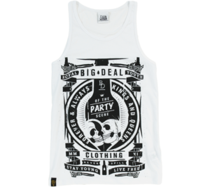Image of 2012 Stay Young, Live Free Vest - White