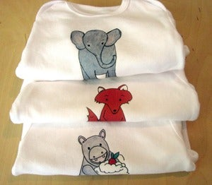 Image of SET OF 3 - One Piece Bodysuits for Baby Boy or Baby Girl, Short Sleeve, Infant -Nursery