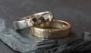 Image of Unisex 14kt White Gold Band - 5mm