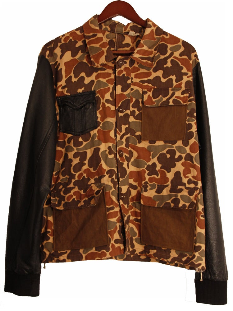 Image of Deconstructed Camo Jacket