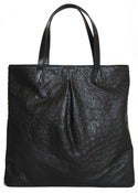 Image of Patton Tote - Black Ostrich