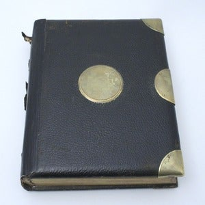 Image of victorian photo album 1880's - with pictures