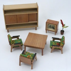 Image of Vintage HUBSCH Dolls House Furniture 1960 / 70's (boxed)