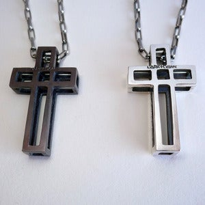 Image of Sterling Silver Cage Cross Necklace<br /> <br />