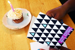 "Image of ""Triangles"" Birthday Greeting Card"