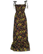 Image of Fair Trade African Print Maxi Dress Navy