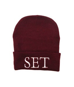 Image of Set - Palatino Beanie - Burgundy
