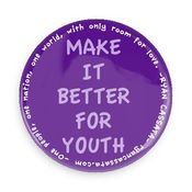 Image of Hands of Hate/Make It Better 4 Youth PURPLE PIN