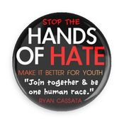 Image of Hands of Hate/Make It Better For Youth BLACK PIN