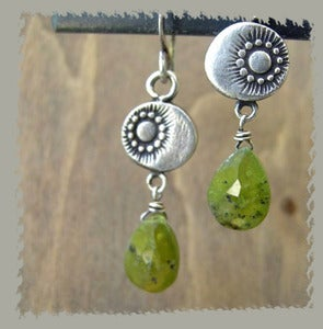 Image of Fields Silver Briolette Earrings