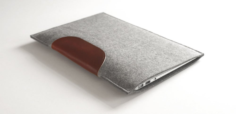 Image of MacBook Air Sleeve - Wool Felt and Leather