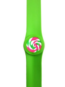 Image of LOLLIPOP SLAP BRACELET - GREEN