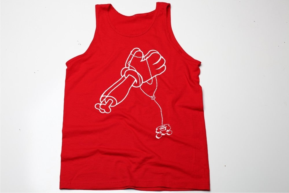 Image of Prey 4 Me Red Tank (White)