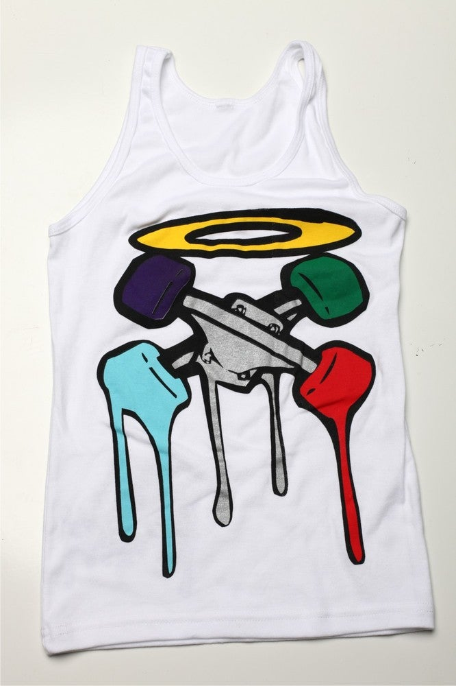 Image of Cross Trucks Ladies White Tank