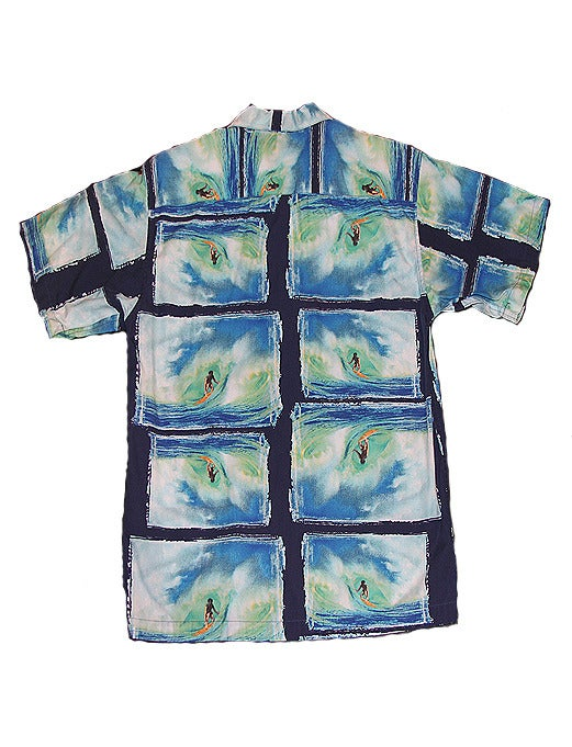 Image of Vintage Gap 'Surf' Short Sleeve Button Up