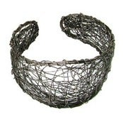 Image of Gunmetal Scribble Wire Cuff