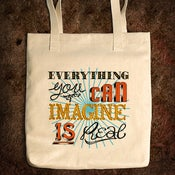 Image of Everything You Can Imagine Is Real - Bull Denim Tote Bag