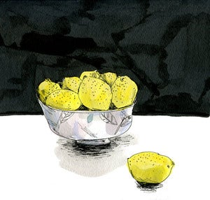 Image of Bowl of lemons