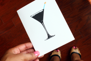 Image of Birthday-tini Greeting Card