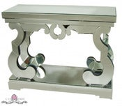 Image of Mirrored Scroll Entry Table