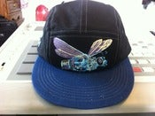 "Image of Black and Blue ""So Fly"" 5 Panel Snapback Hat"