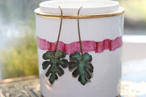 Image of Loopy Leaf Earrings // Patina Collection