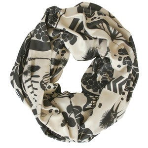 Image of Sovay Charcoal. Single Loop Infinity Scarf