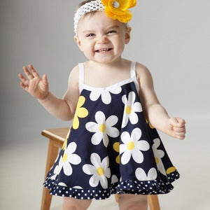 Image of Baby Dress Pattern - the Pat a Cake Dress Sewing Pattern PDF - 0 - 24 months