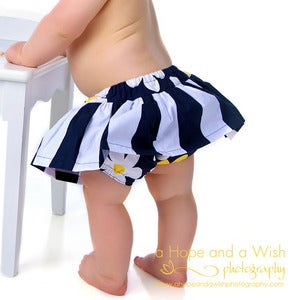 Image of Skirted Diaper Cover for Baby and Toddler - Scooter PDF Sewing Pattern 0-24 months