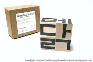 Image of KORABLE BLOCK fun with the Korean alphabet - Four Blocks Only (No booklet, no tray, no artist card)
