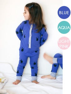Image of BUNNY Print Organic Cotton One Piece &quot;PJ's&quot;