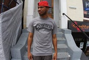 Image of BLACK ONENESS SCRIPT TEE HEATHER GRAY