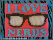 Image of &quot;I Love Nerds&quot; Mouse Pad