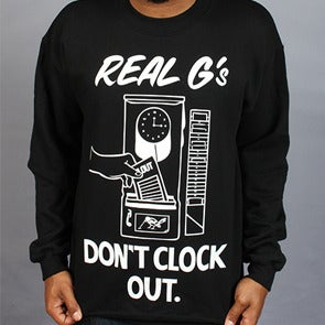 Image of Real G's Crewneck - Black