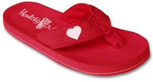 Image of Healthy Heart Flip Flop ( Red )