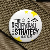 Image of Penguin drum inspired button - Survival strategy