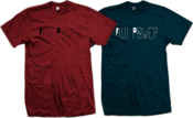 Image of HiiiPoWeR Wordmark Tee (Red,Navy)