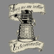 "Image of Doctor Who ""They Hatin'"" - Dalek Tee Shirt"