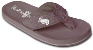 Image of Vater Syndrome Awareness Flip Flops ( Grey )