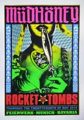 Image of Mudhoney & Rocket from the Tombs - Munich 2012 - Silkscreen Poster
