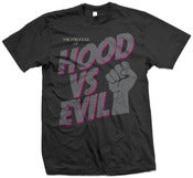 Image of HOOD VS EVIL T - Neon Pink