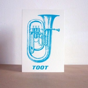 Image of Toot greeting card