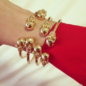 Image of Twin Skull Bracelet