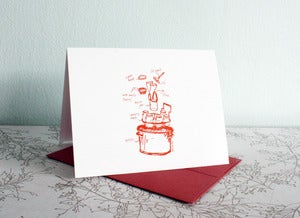 Image of Canning - blank note card