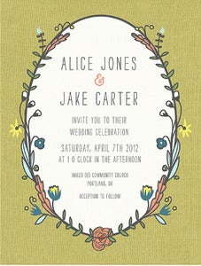 Image of Printable Wedding Invitation-Wreath