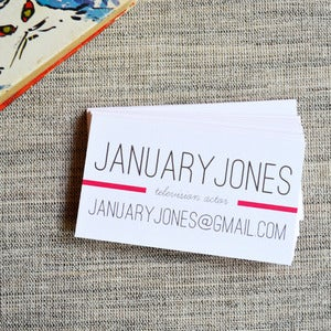 Image of January Jones Calling Cards in Fuchsia