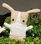 "Image of Flat Bonnie Dutch Bunny Plush - Caramel & White (Classic 12"") Handmade"